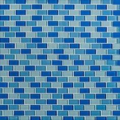 "Cabot Glass Mosaic - Crystalized Glass Blend Series Blue Brick Blend / 1""x2"""