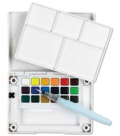 Sakura Koi Water Colors Pocket Field Sketch Box W/Brush-18 Colors