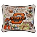 Catstudio, Oklahoma State University Hand- embroidered Pillow - Nielsens Gifts