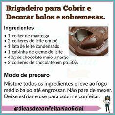 Brigadeiro Veggie Recipes, Baking Recipes, Sweet Recipes, Cake Recipes, Dessert Recipes, Bakery Business, Portuguese Recipes, Cake Boss, Confectionery