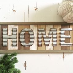 Galvanized Alphabets Home Sign 🏠 now available in store.
