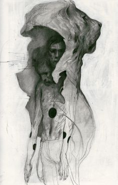 """"""" Heracles Study """" Charcoal and gouache by Joao Ruas"""