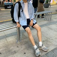 Mens Casual Fashion Tips Korean Outfits, Retro Outfits, Casual Outfits, Korean Fashion Men, Mens Fashion, Korean Fashion Summer Street Styles, Summer Outfits Men, Summer Ootd, Summer Wear