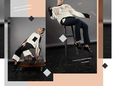 Stories Collective / Hanging by a Tread / Photography Nocera&Ferri / Styling Nada Abdul Ghaffar / Make up Samanta Falcone / Hair Stylist Kirsten Klontz / Model Grace Clark at Established / Design Guiomar Teles #layout #design #fashion #editorial