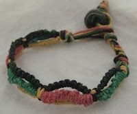 I can do the Jacob's ladder on the midle, {pink and green} but the black and yellow I would have to work on.