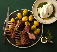 Lammkoteletts mit Kräuterquark Clean Eating, Kraut, Steak, Beef, Wilde, Food, Monat, Bon Appetit, Fresh