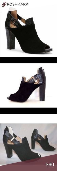 Ann Taylor Suede Peeptoe Shootie Sz 10 Crafted In Buttery Suede With Exotically Textured Leather Accents, these Readytowear Shooties Are Definitive Style Standouts. Peeptoe. Adjustable Notch. Worn once. Ann Taylor Shoes Ankle Boots & Booties