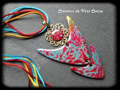 Etsy - Shop for handmade, vintage, custom, and unique gifts for everyone Polymer Clay Pendant, Polymer Clay Jewelry, Plaque, Compliments, Slippers, Pendants, Beads, Ainsi, Etsy