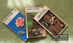 Vintage Agatha Christie books with Tom Adams artwork on the covers. Available in our online shop.
