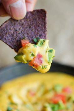 Skinny Queso Dip - An amazingly cheesy and creamy dip that you can ...