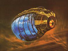 Frank Herbert, Arte Sci Fi, 70s Sci Fi Art, Space Invaders, Futuristic Art, Science Fiction Art, Space Crafts, Retro Futurism, Sci Fi Fantasy