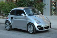 Fiat 500 with Porsche skin
