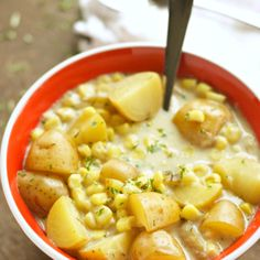 Crockpot Corn and Potato Chowder   going to try this with vegan butter and coconut cream instead