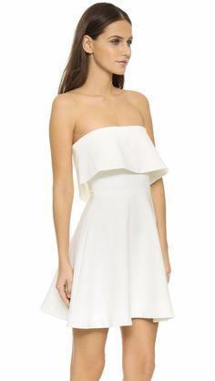$365 Elizabeth and James Ivory Tiered Melinda Fit & Flare Dress 8 NWT E351 #ElizabethandJames #Tiered #Cocktail