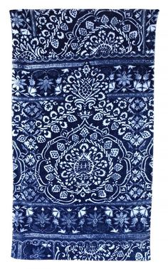Bohemian Damask Royal Blue beach towel by fresco towels. www.shopvandevort.com