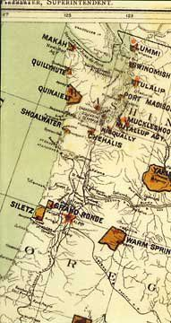 Distribution of Indian Reservations in Washington and Oregon