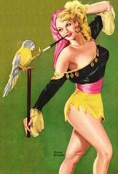Kiwi's Angels: Pin-Up Girls with Parrots