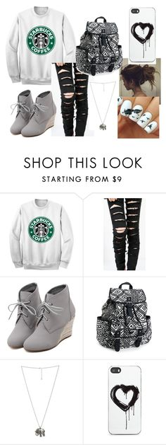 """""""it getting colder... (starbucks)"""" by ayapapaya268 ❤ liked on Polyvore featuring WithChic, Aéropostale, Wet Seal, Zero Gravity, Winter, starbucks, cold, whatabeaute and mylifee"""