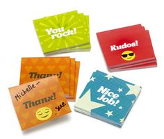 Mini Kudos Sticky Notes (set of 12)-Trainers Warehouse - Inspire continued effort by taking time to notice!