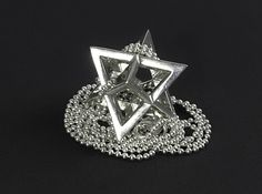 Star Tetrahedron pendant #Sterling-Silver #33mm by CreationArts