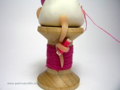 Little Sewing Mouse Sculpture Ornament Mothers by QuernusCrafts, £18.00