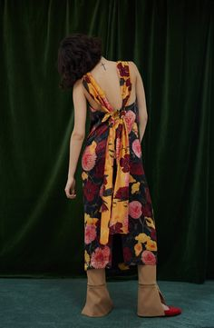Mother of Pearl Silk Dress, Wrap Dress, Long Ties, Sustainable Clothing, Aw17, Contemporary Fashion, Silk Satin, Ready To Wear, Floral Prints