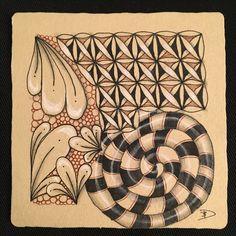Zentangle renaissance, white, brown, black, flux,fife, marasu