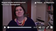 Videóblog: A tartalommarketing terv Blog