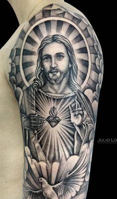 Half Sleeve Tattoos Forearm, Forarm Tattoos, Full Sleeve Tattoos, Arm Tattoos For Guys, Hand Tattoos, Jesus Tattoo Design, Tattoo Design For Hand, Full Sleeve Tattoo Design, Forearm Tattoo Design