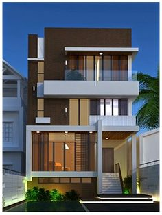 To inspire ypu on your best projects, we select architecture projects for you to see. Discover more architecture projects here. House Front Design, Small House Design, Modern House Design, Facade Design, Exterior Design, Building Design, Building A House, Contemporary Architecture, Architecture Design