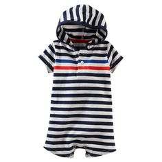 Striped Hooded Romper | Carters.com