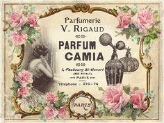 JanetK.Design Free digital vintage stuff: Moeder en kind en een paar parfumlabels