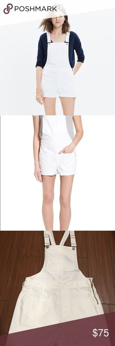 Madewell J Crew White Overall Shortalls Denim XS S This is a beautiful pair of Madewell overalls in size XS Madewell Other