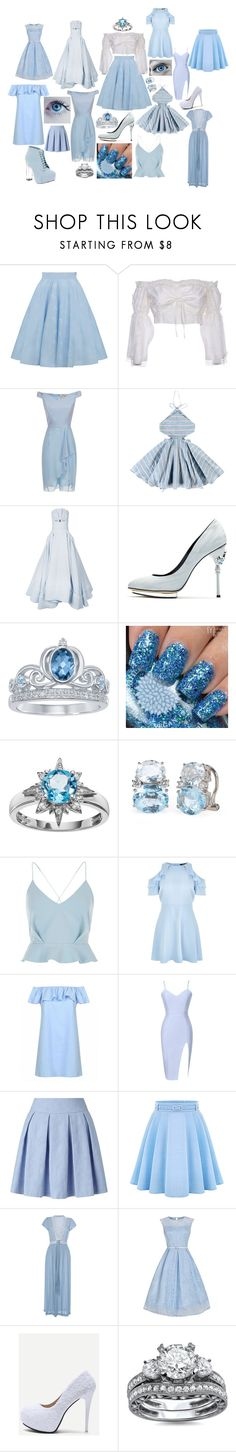 """""""Cinderella modern"""" by nanixmc ❤ liked on Polyvore featuring Wandering, Tuchinda, Maticevski, Oscar de la Renta, Disney, River Island, New Look, Miss Selfridge, WithChic and Roses Are Red"""