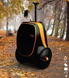Rolling Suitcase Concept Will Charge Your Gadgets With Kinectic Energy product, generat electr, stuff, charg, gadget, suitcases, roll suitcas, technolog, design