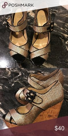 """Shoes Saks Fifth Avenue brand . Worn a couple of times. Platform height 1.5 in . Total heel height  5.5 In.Hi! I'm Lana. I work in fashion and beauty industry. All of the items you see come from my personal closet. I don't resell for profit- I look at  Poshmark as an opportunity to """"pass the fashion """" to others. Reasonable offers are welcome. Most of the items were worn once or twice and can be yours for more life to live!!! Enjoy!!! Saks Fifth Avenue Shoes Platforms"""