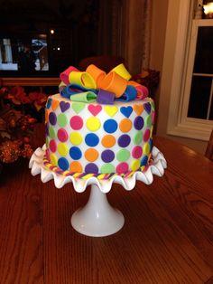 """Rainbow Loom"" cake for my niece Heathers Birthday."