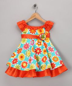 Take a look at this Turquoise Polka Dot Daisy Dress - Infant & Toddler by Pretty Me on #zulily today!