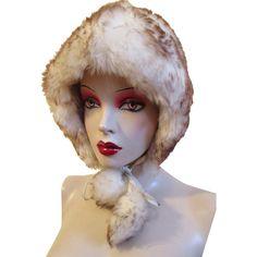 Faux Fur Hat Pom Poms Vintage 1970's Warm Winter Accessory  $24 http://www.rubylane.com/item/676693-AC222/Faux78-Fur-Hat-Pom-Poms-Vintage