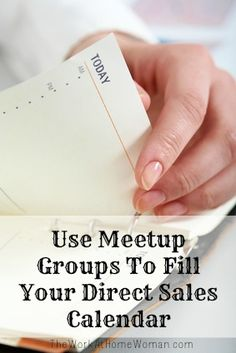 Use Meetup Groups To Fill Your Direct Sales Calendar