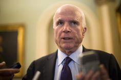 """President Trump lashed out at Sen. John McCain (R-Ariz.) on Thursday, saying that the senator's negative assessment of a deadly raid in Yemen last month """"emboldens the enemy!""""  McCain initially referred to the raid as """"a failure"""" but later dialed back his criticism, saying in a statement Tuesday that some objectives were fulfilled in the mission but that he would """"not describe any operation that results in the loss of American life as a success."""""""