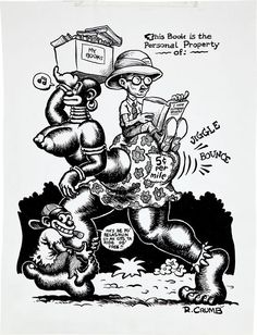 Robert Crumb Snatch Sampler Cover Original Art (c. Robert Crumb, Fritz The Cat, Alternative Comics, Ex Libris, Art Studies, Erotic Art, American, Book Art, Folk