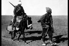 Two Ottoman soldiers flee the scene of the Battle of Lula Burgas, fought between Oct. 28-Nov. 3, 1912, where a Bulgarian advance routed the Turks and triggered fears that the Ottoman capital Istanbul could fall.