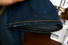 This little technique has saved me hundreds of dollars!  I'm not even kidding.  My alterations place charges $25 for a jean hem using the o...