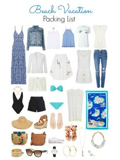 Beach Vacation Packing List - What to pack for your beach vacation plus some major outfit inspiration from these 15 items - Ioanna's Notebook Source by for Beach vacation outfits Beach Vacation Packing List, Summer Vacation Outfits, Packing For A Cruise, Travel Outfit Summer, Beach Trip, Beach Vacations, Beach Holiday Outfits, Travel Outfits, Packing Lists