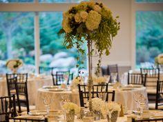 Wisteria Flowers and Gifts | Elegant garden wedding, tall floral centerpiece arrangement