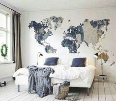 Držite svijet na dlanu unutar vaše spavaće sobe. #bedroom #wall #wallpaper #map #details #art #blue #white #spring #decor #proljece #colors #home #homedecor #homedesign #design #luxury #interior #inggrad #luksuz #stanovi #zagreb #interiordesign #luxurious #luxuryapartments Hvala @myinteriortips ! by ing_grad http://discoverdmci.com