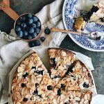 Coconut, almond and blueberry cake