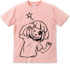 てへぺろ : wanda [半袖Tシャツ [6.2oz]] - デザインTシャツマーケット/Hoimi(ホイミ)