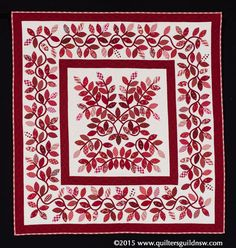 Red Leaves by Judy Day.  2015 Quilters' Guild NSW show (Sydney, Australia).